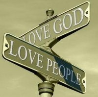 love god.love neighbor.streetsign
