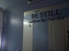scripture on mirror
